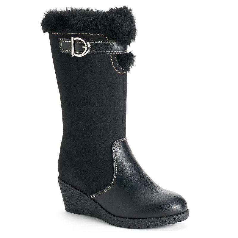 Rachel Shoes Girls' Faux-Fur Wedge Boots