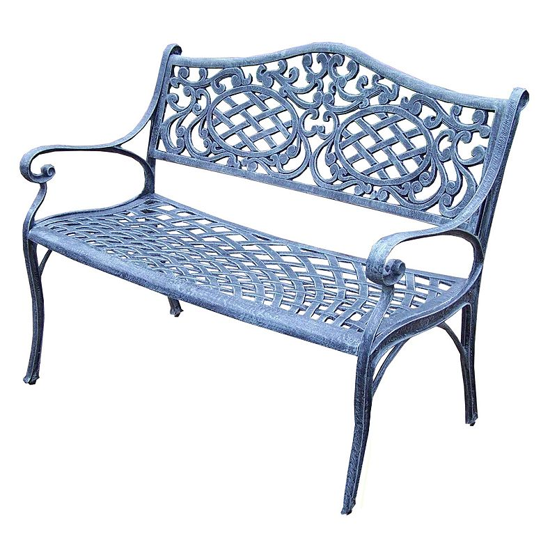 Mississippi Cast Aluminum Outdoor Settee Bench