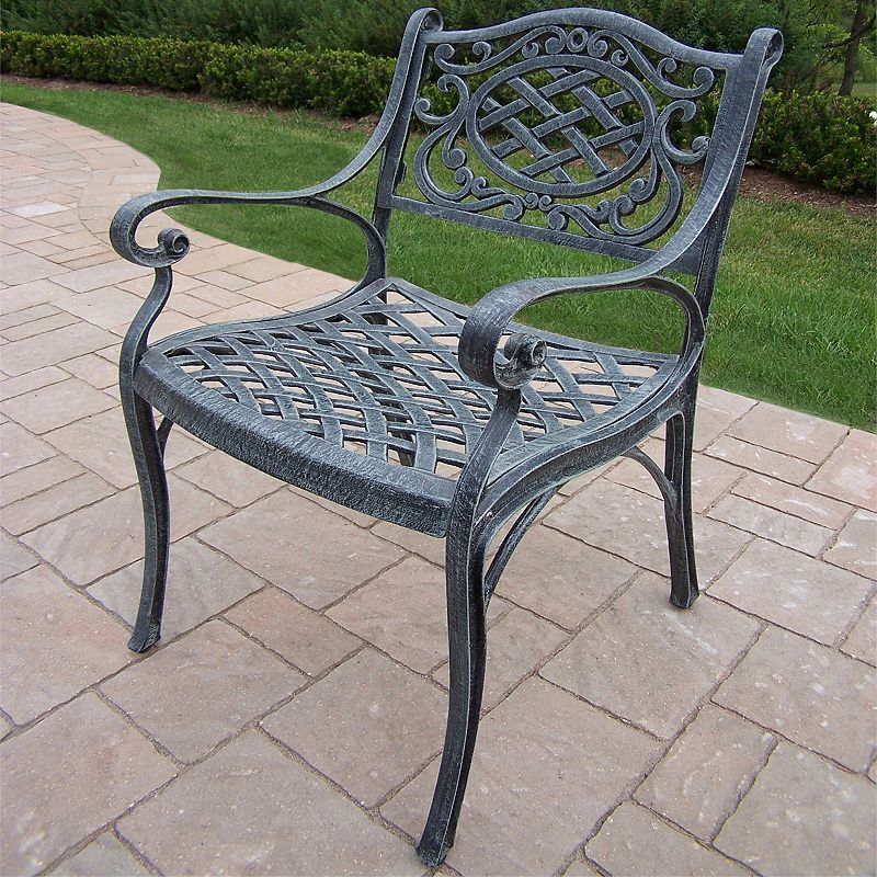 Mississippi Cast Aluminum Outdoor Arm Chair