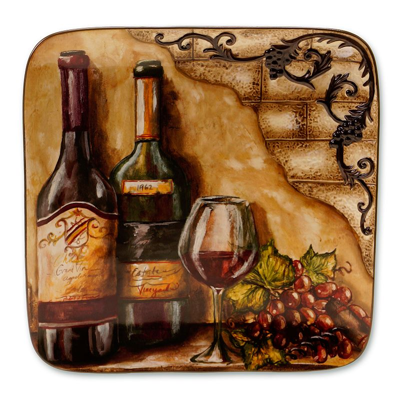 Certified International Tuscan View 14.5-in. Square Serving Platter