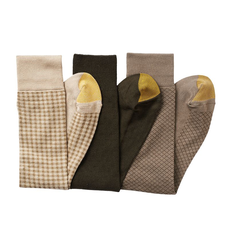 Men's GOLDTOE 3-pk. Checked Dress Socks