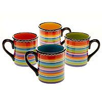 Certified International Tequila Sunrise 4-pc. Mug Set