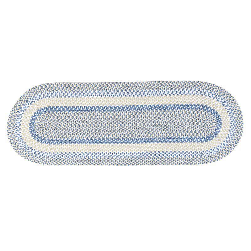 Colonial Mills Play Date Braided Reversible Rug Runner - 2' x 6' Oval