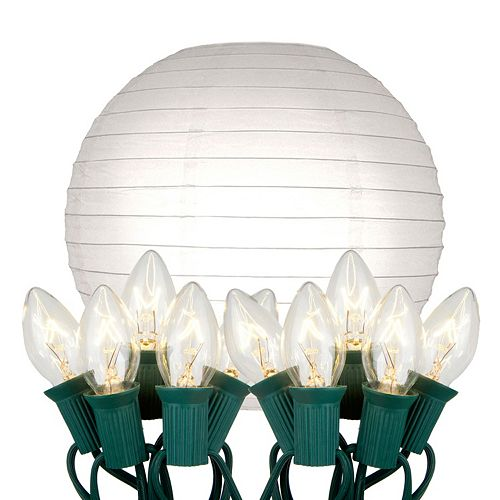 Kohl S Patio String Lights : LumaBase 10-pk. Paper Lantern and String Lights Set