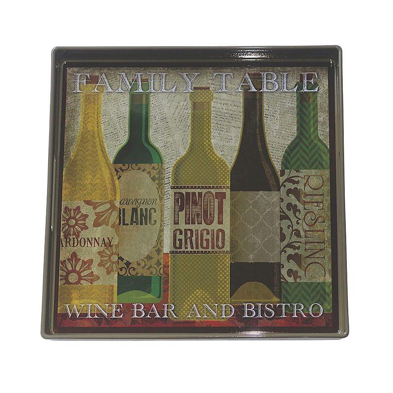Boston Warehouse ''Wine Bar'' Square Serving Tray