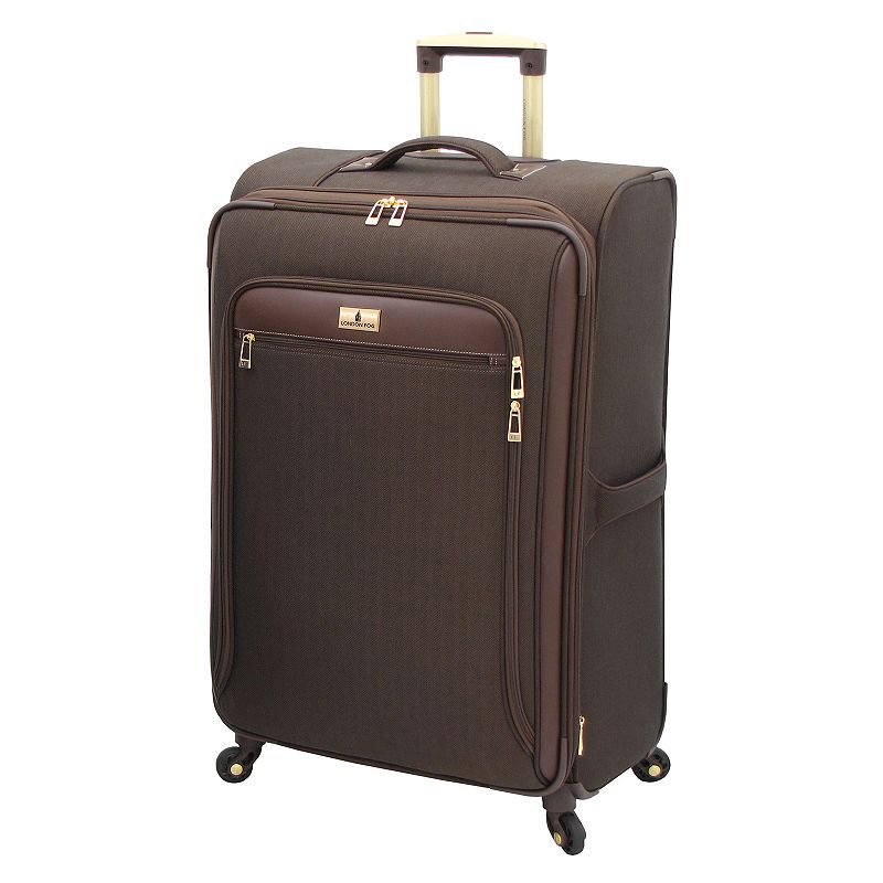 London Fog Andover Chocolate 29-Inch Spinner Luggage