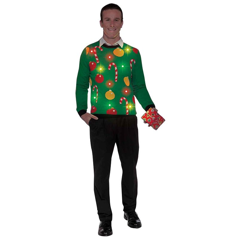 Light Up Ugly Sweater Costume - Adult