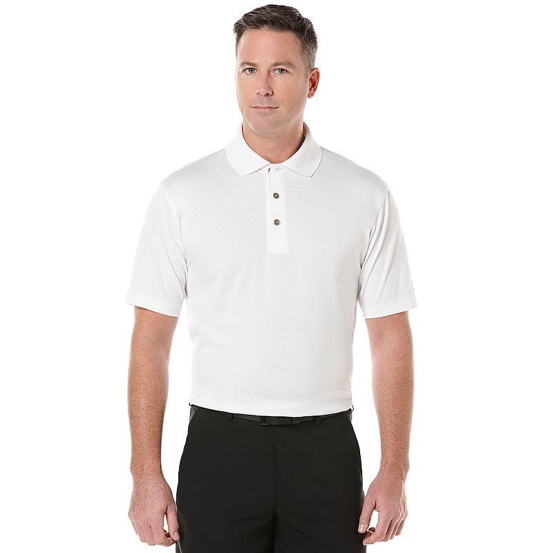 Men's Grand Slam Classic-Fit Solid Performance Cotton Golf Polo