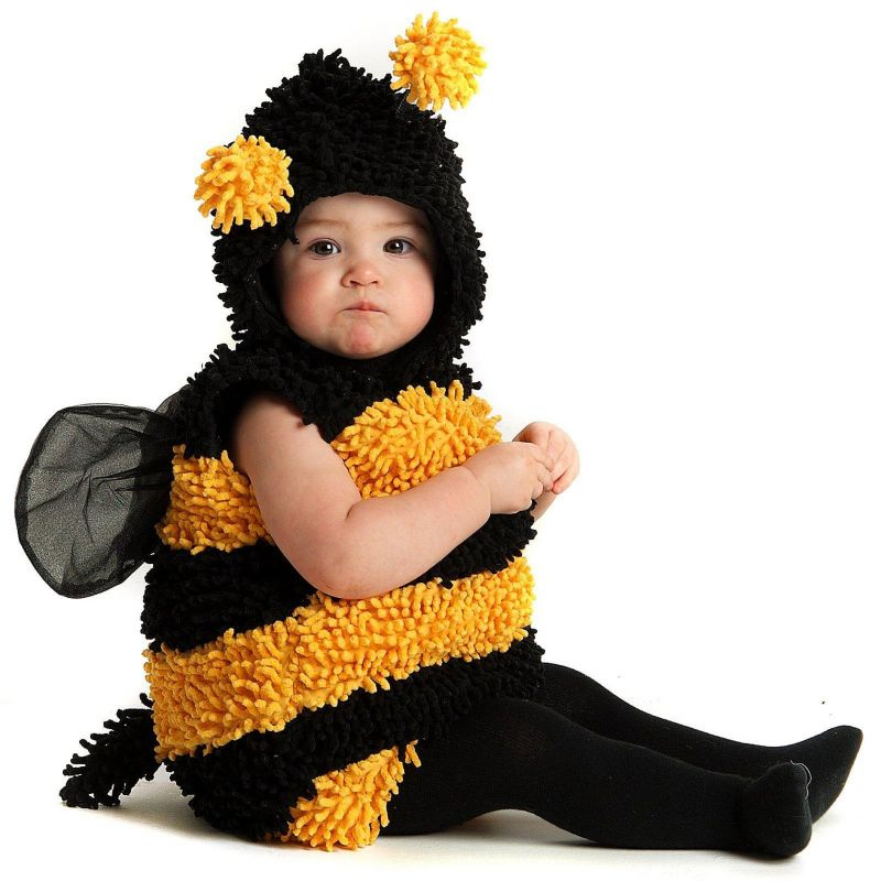 Little Stinger Bee Costume - Baby (Black/Yellow)