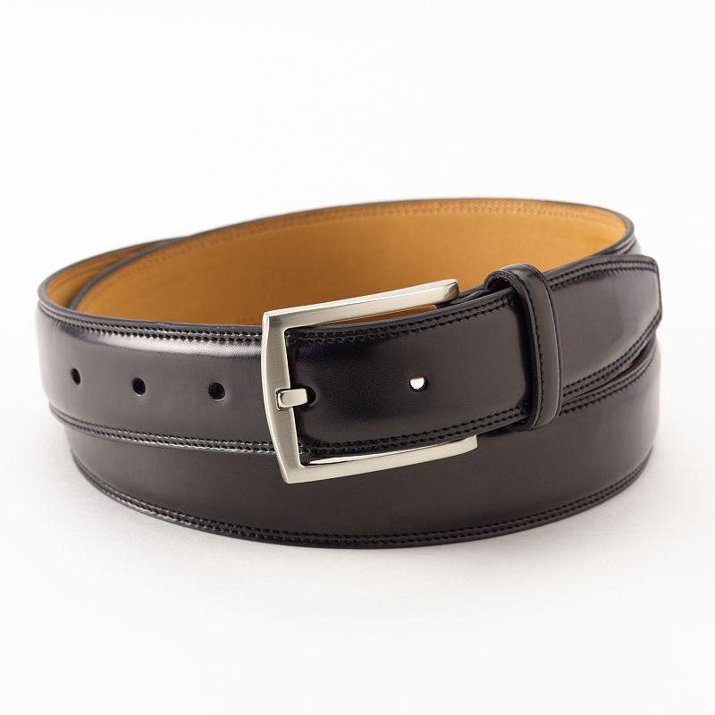 Croft & Barrow® Double-Stitched Dress Belt - Men