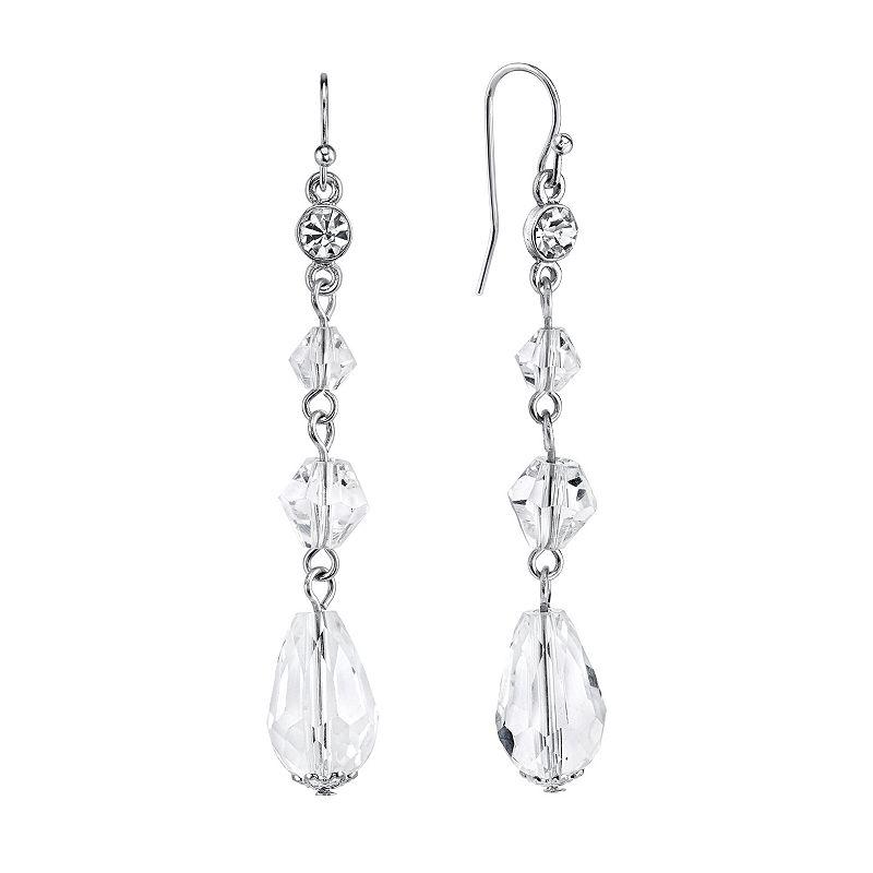 1928 Bead Linear Drop Earrings