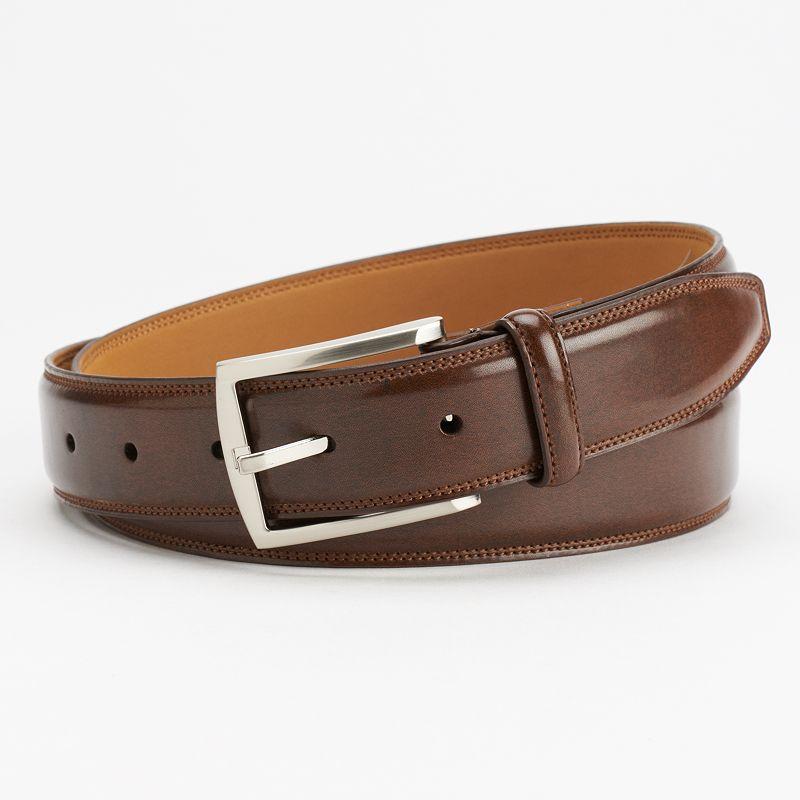 Croft & Barrow® Feather-Edge Double-Stitched Reversible Dress Belt - Men