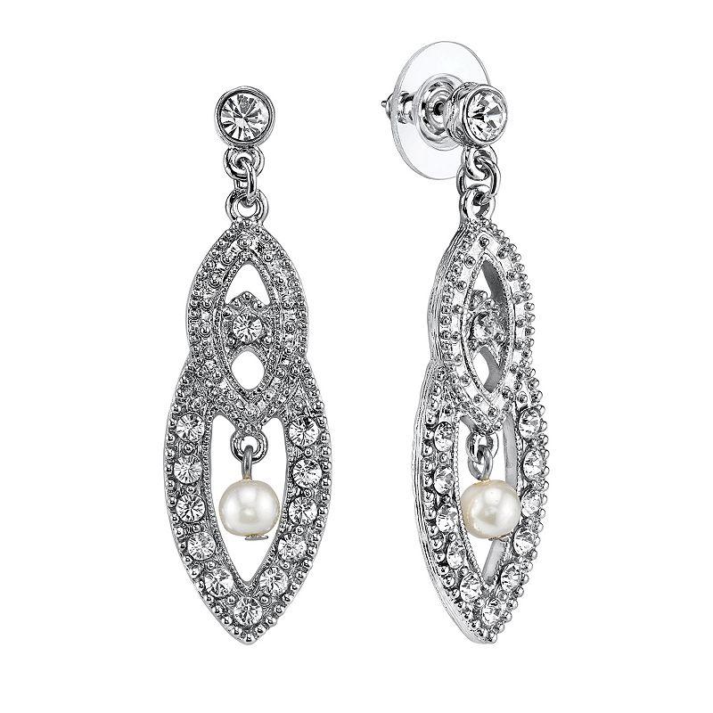 1928 Marquise Drop Earrings
