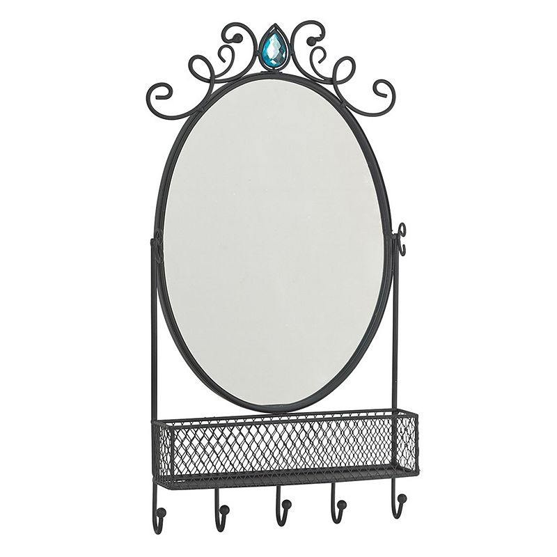 Boston Warehouse 5-Hook Accessory Organizer and Mirror