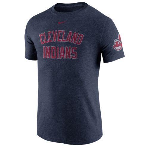 Men's Nike Cleveland Indians Tri-Blend DNA Tee