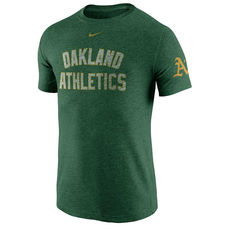 Men's Nike Oakland Athletics Tri-Blend DNA Tee