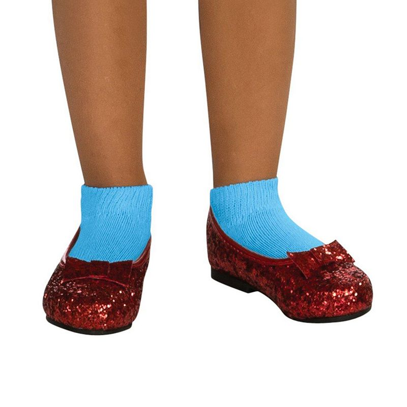 Halloween Costumes | Halloween The Wizard Of Oz Ruby Costume Slippers - Kids, Girl's, Size: SMALL, Red