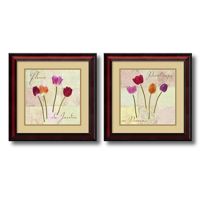 ''Garden Flowers'' 2-Piece Framed Art Print Set by Remy Dellal
