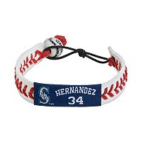 GameWear Seattle Mariners Felix Hernandez Leather Baseball Bracelet