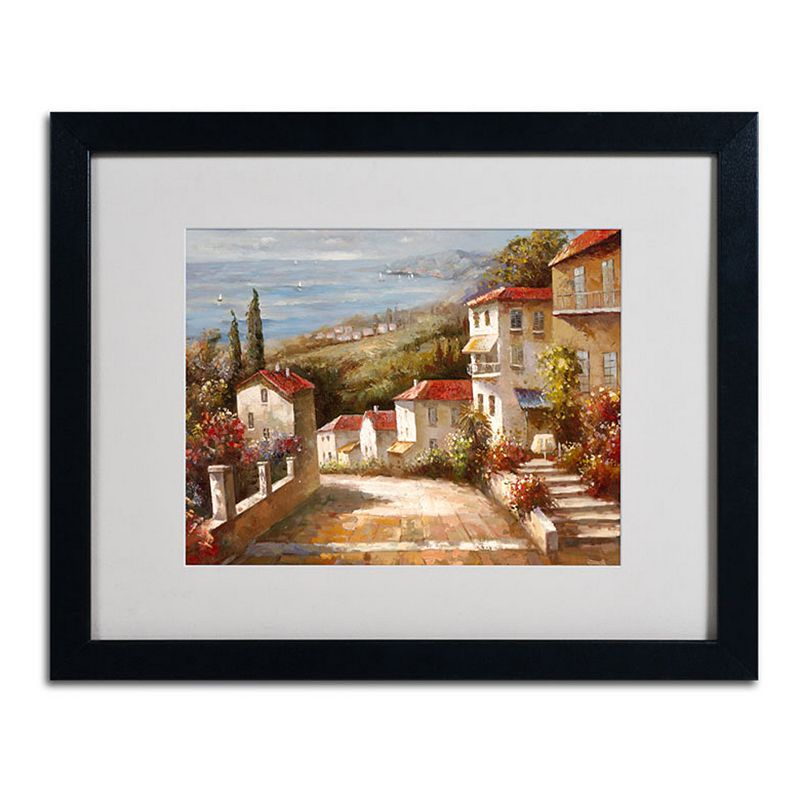 Trademark Fine Art Home in Tuscany Framed Canvas Wall Art Black Overall | Clothing