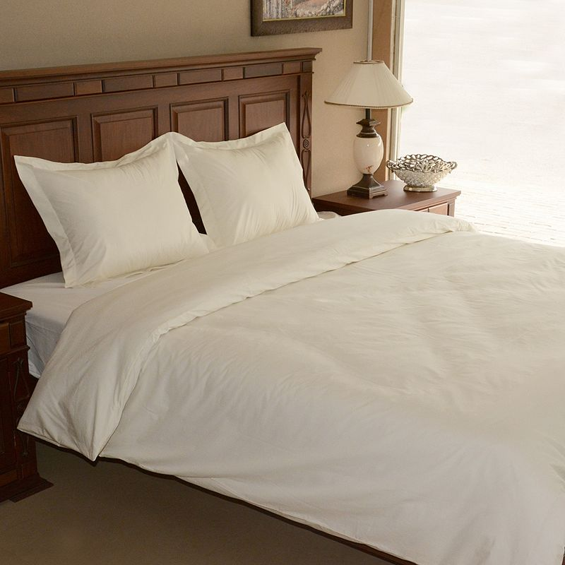 Egyptian Cotton Percale 3-pc. Duvet Cover Set - Queen