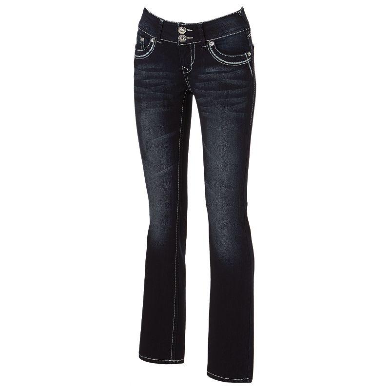 Juniors' Wallflower Curvy Skinny Bootcut Jeans