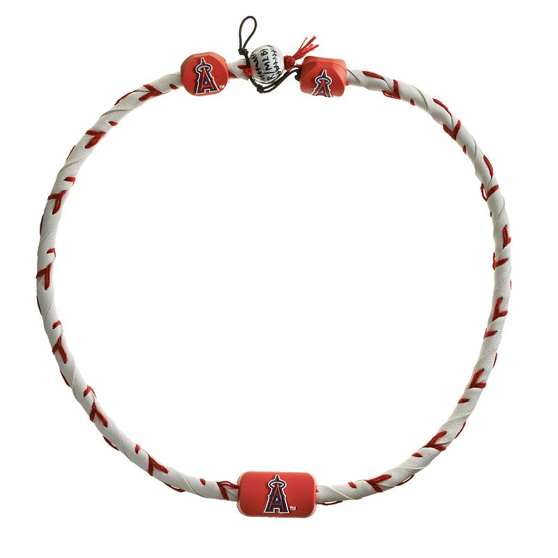 GameWear Frozen Rope Los Angeles Angels of Anaheim Albert Pujols Leather Baseball Necklace