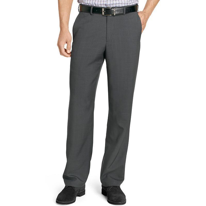 Men's IZOD Straight-Fit Microfiber Performance Flat-Front Pants