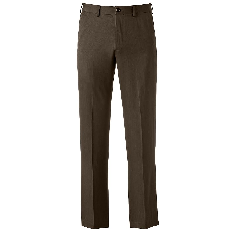 Men's IZOD Ultimate Travel Straight-Fit Wrinkle-Free Performance Flat-Front Pants