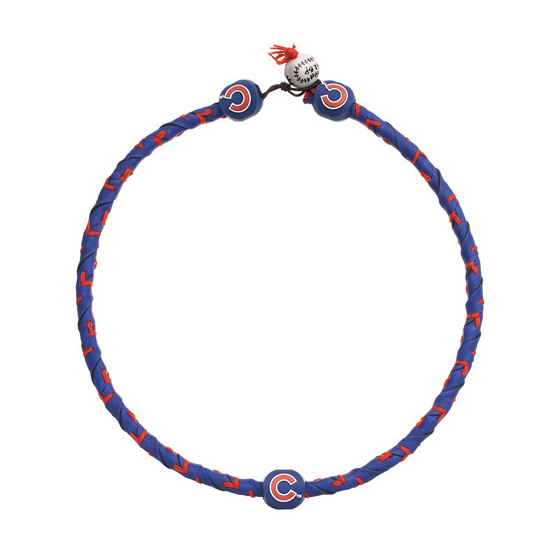 GameWear Frozen Rope Chicago Cubs Leather Baseball Necklace
