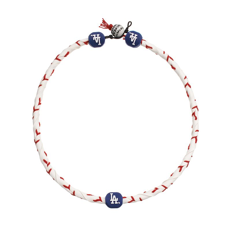 GameWear Frozen Rope Los Angeles Dodgers Leather Baseball Necklace