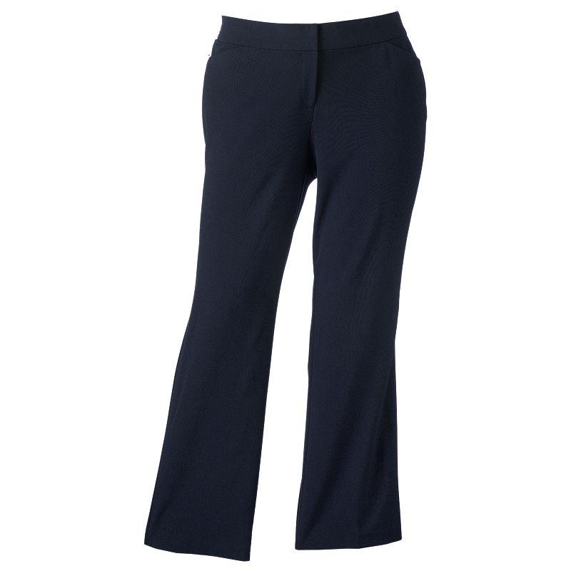 Plus Size Sag Harbor Curvy Dress Pants
