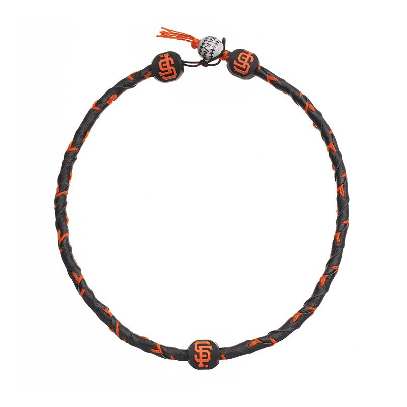 GameWear Frozen Rope San Francisco Giants Leather Baseball Necklace