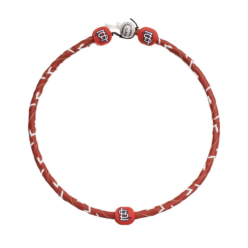 GameWear Frozen Rope St. Louis Cardinals Leather Baseball Necklace