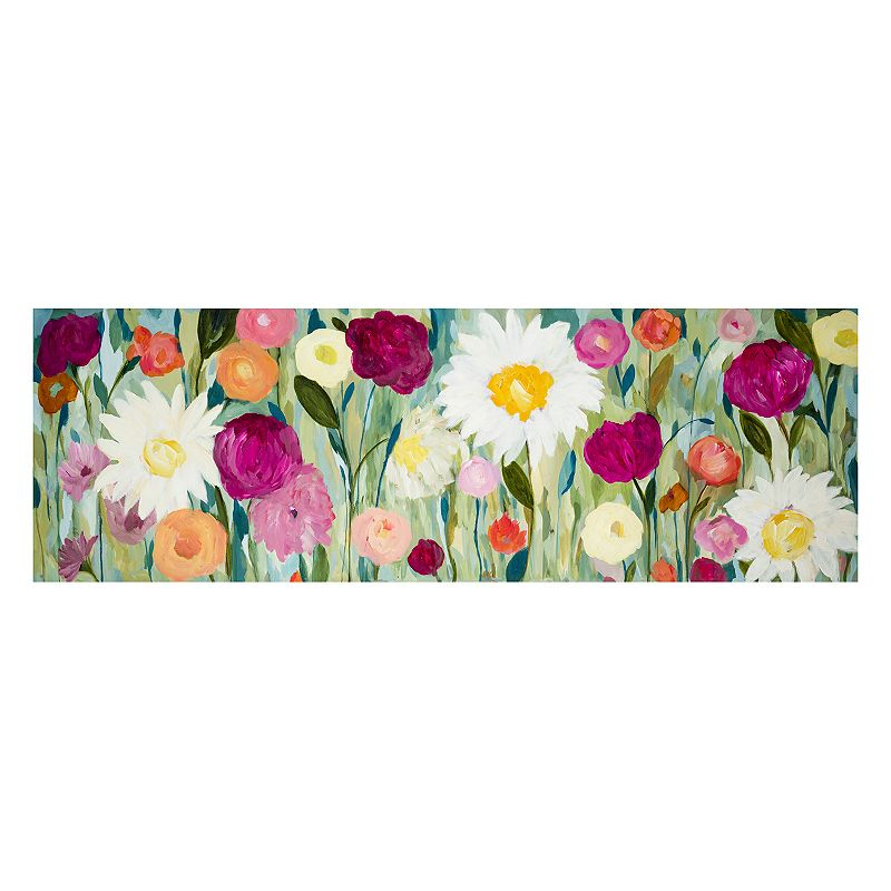 Flowers Hand in Hand Canvas Wall Art