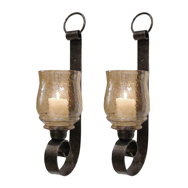 Candle Wall Sconces Kohls : 2 Piece Glass Sconce Kohl s