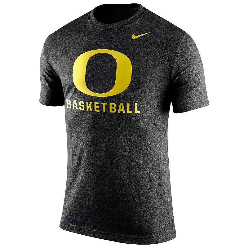Men's Nike Oregon Ducks Basketball Heather Tee