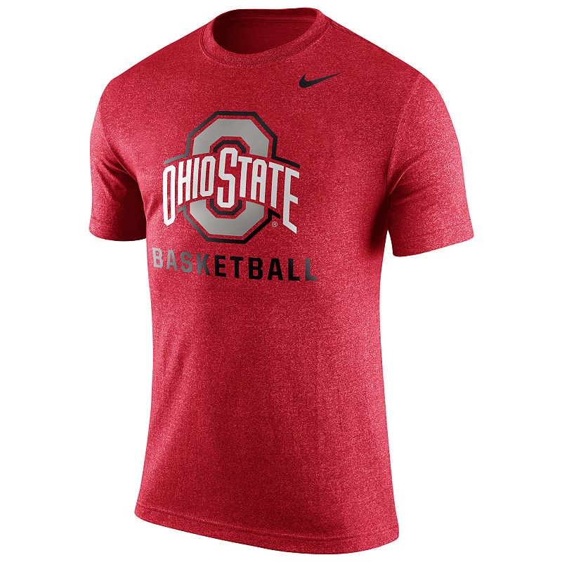 Men's Nike Ohio State Buckeyes Basketball Heather Tee