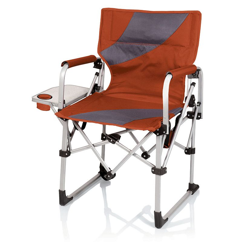 Picnic Time Portable Folding Chair with Side Table
