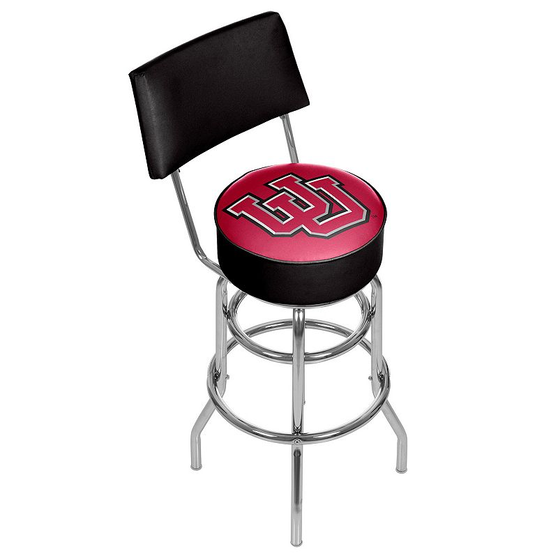 Utah Utes Padded Swivel Bar Stool with Back