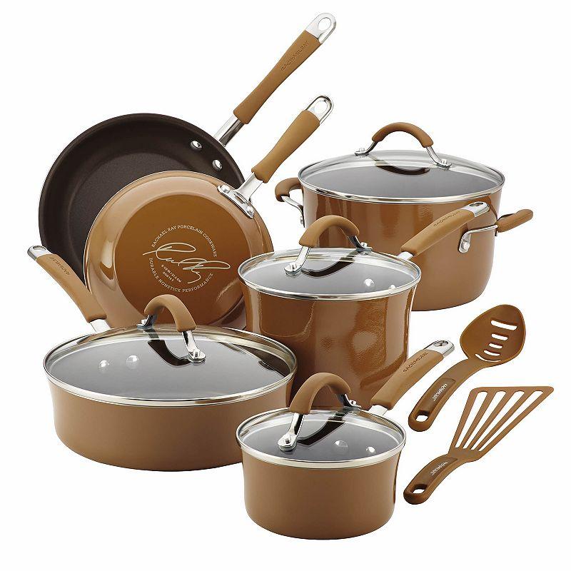 Rachael Ray Cucina 12-pc. Hard-Enamel Nonstick Cookware Set