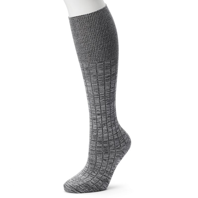 Cuddl Duds Space-Dyed Knee-High Turncuff Socks - Women's