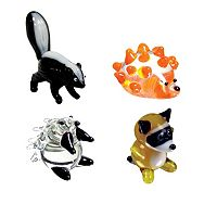 Looking Glass 4-pk. Skunk, Hedgehog, Porcupine & Raccoon Mini Figurines