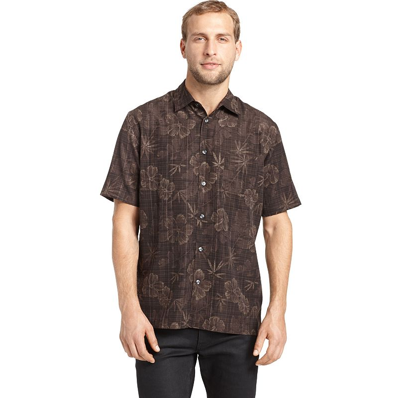 Van Heusen Floral Casual Button Down Shirt Men