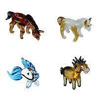 Looking Glass 4-pk. Arabian Horse, Pinto Horse, Goldfish & Horsey Mini Figurines