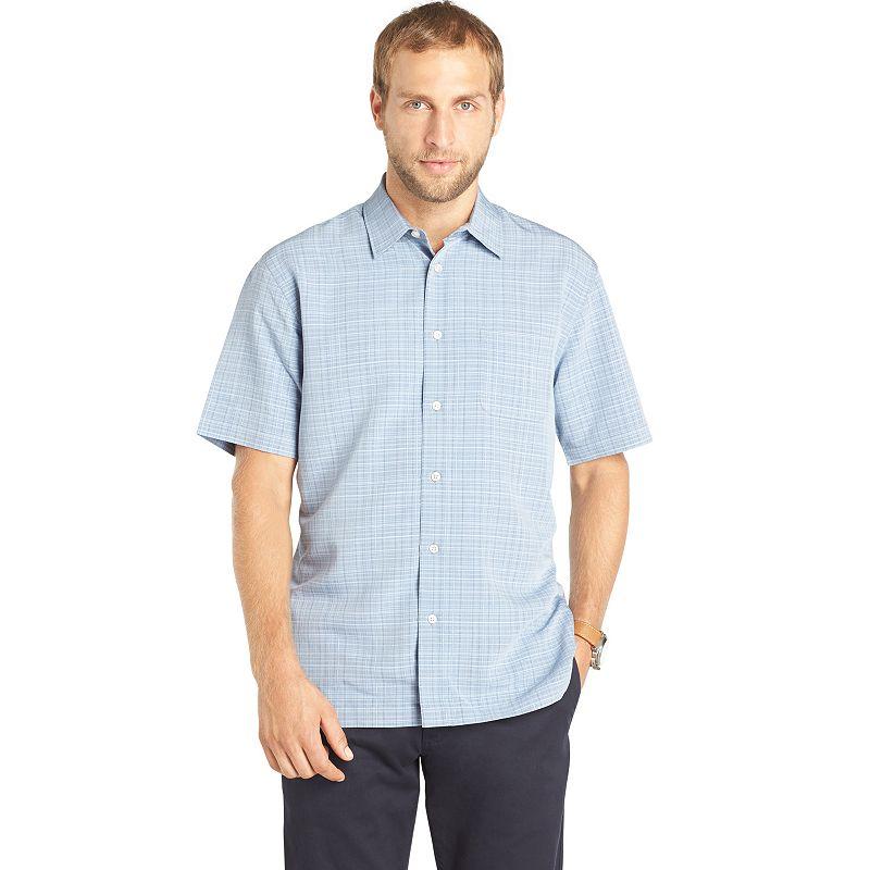 Plaid woven polyester shirt kohl 39 s for Van heusen plaid shirts