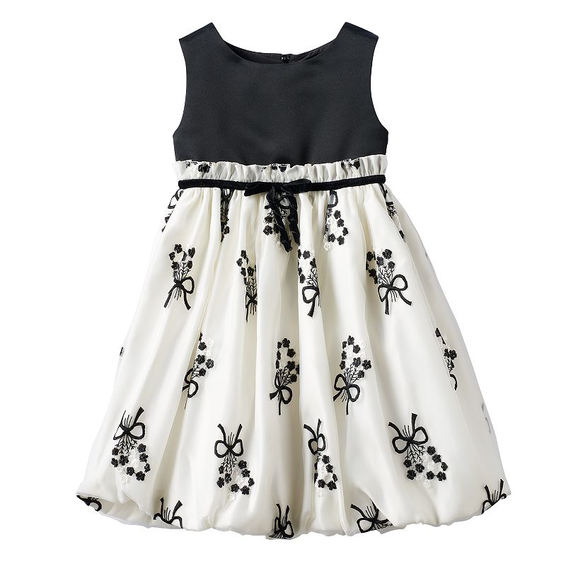Toddler Girl Princess Faith Bows & Flowers Dress