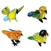 Looking Glass 4-pk. Parrot, Canary & Lovebird Mini Figurines