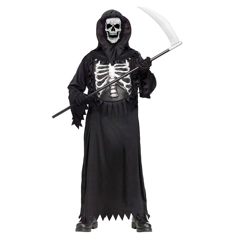 Glow Chest Grim Reaper Costume - Kids
