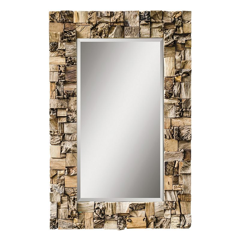 Thatcher Teak Beveled Wall Mirror